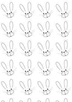 FREE printable bunny pattern paper | #blackandwhite