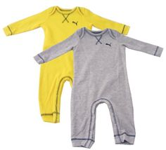 Puma Kids Baby Boys Pajama Set 69Mo Yellow And Grey >>> Click on the image for additional details.