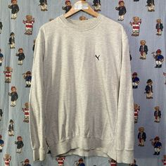 Vintage Grey Fred Perry Sweatshirt (M) Fred Perry Sweatshirt, Puma Sweatshirts, Vintage Sportswear, Helly Hansen, Retro Vintage, Tommy Hilfiger, Calvin Klein, Street Wear