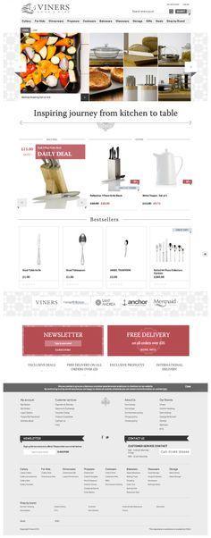 Viners Oneida Ltd / Homepage – impressive heritage of Oneida Ltd. brands – responsive e-commerce website www.viners.co.uk/