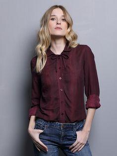 a67397fce990f Burgundy women blouse bordeaux button down blouse by SCHILLERshop