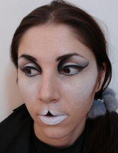 White Bunny, Alice in Wonderland in Make-Up by