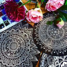 Tutto Mandala ❤️😘 #drawing #mandala #corsomandala #arteterapia #creativita #flowers