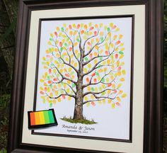 Fall Wedding Guest Book Alternative  Hand drawn by fancyprints, $53.00