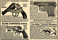 This cool retro gun ad shows how cheap these weapons were and how easily accessible they were.  You could just order a gun through the mail and it would be on your doorstep in a matter of a few weeks, usually 6-8.