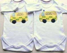 Mummy's and Daddy's Ambulances First Time Parents, Paramedics, Bramble, Ambulance, Baby Gifts, Custom Design, Onesies, Applique, Daddy