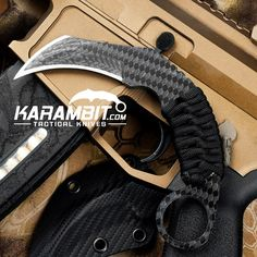 Schwartz Tactical's Carbon Fiber Titanium Hex Karambit is in the building!!! Take a look in on the site to find some other new items that have not yet been posted to our page while you're at it.  Grab YOURS! http://www.karambit.com/shop/custom-karambits/custom-fixed-karambits/schwartz-tactical-carbon-fiber-titanium-hex-karambit/