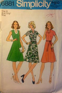 Simplicity 6881 VINTAGE Misses sewing pattern by ThimbleNThread, $4.77
