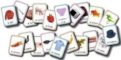"""A imprimer : imagier du vocabulaire vu dans les jeux de lotos, dans les jeux de """"J'ai.... Qui a?"""" et dans le cahier de vocabulaire. imagier des animaux imagier des fruits et légumes imagier du corps humain imagier de la maison imagier des vêtements   en bonus, un planche à imprimer plusieurs fois pour transformer l'imagier en loto des syllabes !"""