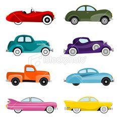 Classic Cars Royalty Free Stock Vector Art Illustration 12 Credits