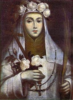 Santa Rosa de Lima - Gregorio Vasquez de Arce y Ceballos