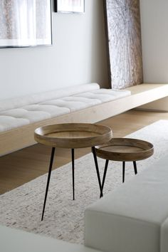 #coffeetables #livingroom design #minimalism- mater bowl side tables