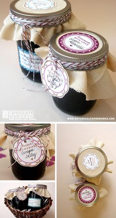 Botanical PaperWorks Free Printables: Homemade Jam Jar Labels