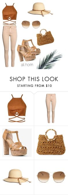 """Beige&camel style😍"" by alihorin on Polyvore featuring MICHAEL Michael Kors, Cappelli Straworld and Chloé"