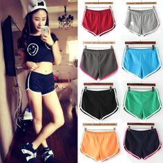 2015 New Fashion Women Running Cotton Sports Fitness Gym Shorts Sexy Slim Hip Elastic High Waist Shorts Female Bermudas Feminino-in Shorts from Women's Clothing & Accessories on Aliexpress.com   Alibaba Group