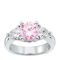 Daybreak ring with rose diamond. I would like blue instead of rose.