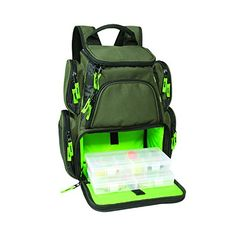 Wild River WT3508 Multi-Tackle Small Backpack with Two boxes. Great gift for any fisherman. Keeps hands free carrying Rods and nets.