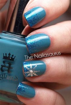 Easy & Simple Snowflake Nail Art Designs & Ideas 2013/ 2014
