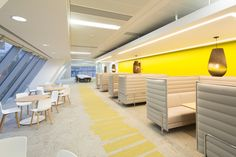 The swish Network Rail HQ in Glasgow is complete with comfortable booth seating throughout the office.
