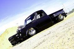 70's model C-10 drag truck.