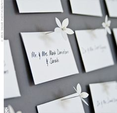 Escort Cards done beautifully