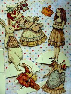 Highly Detailed Vintage Alice in Wonderland Cut by reginasstudio, $12.99