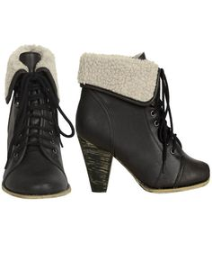 Black Fold Over Bootie
