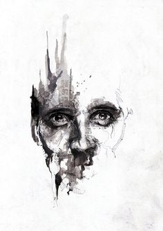 New Illustrations by Florian Nicolle (10 Pictures) > Design und so, Illustrationen, Paintings > artworks, illustrations, ink, newspaper, paint, photoshop