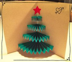 Christmas tree card diy