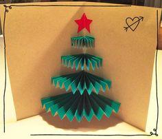 Christmas tree card diy