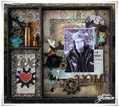 Shadowbox made as DT Marion Smith Designs. Blogswap with Petaloo. Timekeeper Collection.
