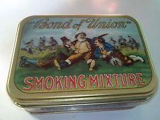 SCATOLA IN LATTA FABBRI EDITORI SMOKING MIXTURE BOND OF UNION 12X9 CM