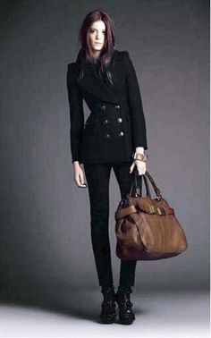 burberry black coat