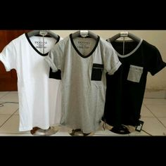 vneck pock, fit to L, idr 68k