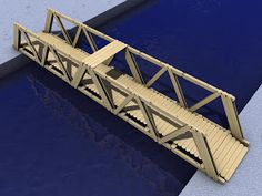 Bridges: Bridges Made Of Popsicle Sticks Popsicle Bridge, Popsicle Stick Bridges, Popsicle Stick Art, Popsicle Crafts, Pop Stick, Craft Stick Crafts, Crafts For Kids, Wood Crafts, Popsicle Stick Crafts For Adults