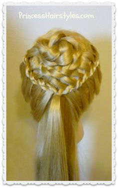 Perfect #hairstyle for a #wedding or #prom.  The braided flower corsage.