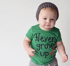Never Grow Up Shirt. by PoshLittlePeanutLLC on Etsy https://www.etsy.com/listing/250484567/never-grow-up-shirt Disney Peter Pan Never Grow Up Infant Baby Toddler