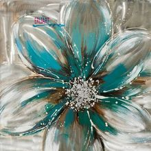 Light Colored Flower Oil Painting Frameless Modern Art Paintings For Living Room Bedroom Acrylic Wall Decor Canvas Picture Mural(China (Mainland))