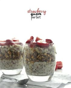 Strawberry Quinoa Parfaits from The Almond Eater