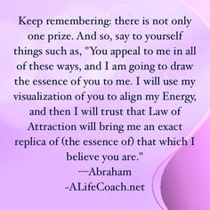 The basics of using the law of attraction. Another great life thought quote from Abraham Hicks. Manifest away!