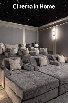 home theater seating & home theater ideas ; home theater rooms ; home theater ; home theater design ; home theater seating ; home theater ideas on a budget ; home theater ideas basement ; home theater decor Movie Theater Rooms, Home Cinema Room, Home Theater Seating, Home Theater Design, Home Theatre, Salas Home Theater, Home Modern, Home Cinemas, Basement Remodeling