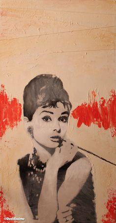 Audrey Hepburn metropolitan style. 40x80 cm
