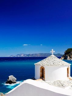 The blue and the white in Skopelos, Greece