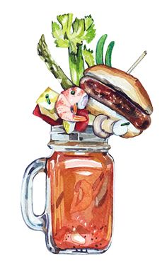 Esquire - Food & Drink Awards - Holly Exley Illustration