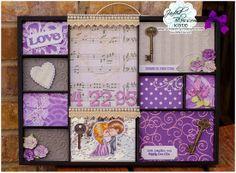 Created by Kate. www.jadedblossomstamps.com Valentine Bingo, Perfect Match, Ticket, March, Corner, Flag, Scrapbook, Weddings, Princess