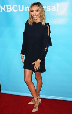 Giuliana Rancic shows off her lean legs in a minidress at NBCUniversal's winter TCA press tour!