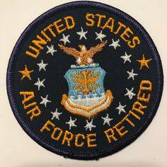 USAF AIR FORCE HAP ARNOLD WINGS SYMBOL PATCH VETERAN AIRMEN BLUE WHITE