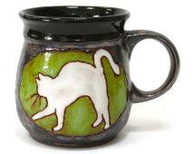 Cat Mug, Ceramic Mug, Pottery Mug, Clay Mug, Coffee Mugs, Stoneware Mug, Handmade Mug, Hand Painted Mug, Teacup, Pottery Cup, Ceramics, Cup
