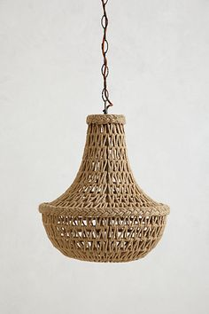 Anthropologie Handwoven Macrame Chandelier
