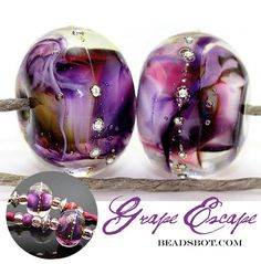Grape Escape Rounds Handmade Lampwork Beads. Starting at $10 on Tophatter.com!